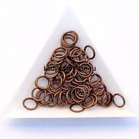 Соединительные колечки диаметр 8 мм толщина 1,2 мм медь (примерно 0,5 кг)