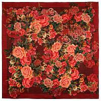 10183-6, павлопосадский платок шерстяной (разреженная шерсть) с швом зиг-заг, фото 1