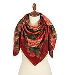 10183-6, павлопосадский платок шерстяной (разреженная шерсть) с швом зиг-заг, фото 2