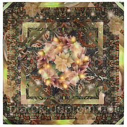 10248-10, павлопосадский платок шерстяной (разреженная шерсть) с швом зиг-заг