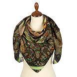 10248-10, павлопосадский платок шерстяной (разреженная шерсть) с швом зиг-заг, фото 2