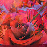 10268-6, павлопосадский платок шерстяной (разреженная шерсть) с швом зиг-заг, фото 3