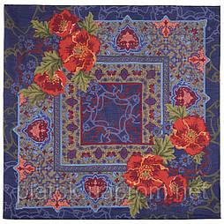 10465-14, павлопосадский платок шерстяной (разреженная шерсть) с швом зиг-заг