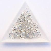 Соединительные колечки диаметр 10 мм толщина 0,7 мм св. серебро (примерно 0,5 кг)