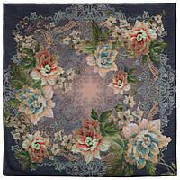 10467-14, павлопосадский платок шерстяной (разреженная шерсть) с швом зиг-заг, фото 1