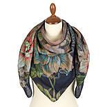 10467-14, павлопосадский платок шерстяной (разреженная шерсть) с швом зиг-заг, фото 2