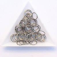 Соединительные колечки диаметр 10 мм толщина 0,7 мм сталь (примерно 0,5 кг)