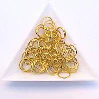 Соединительные колечки диаметр 10 мм толщина 0,7 мм золото (примерно 0,5 кг)