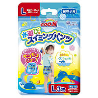 Трусики-подгузники для плавания GOO.N для мальчиков 9-14 кг, ростом 70-90 см (размер L, 3 шт)