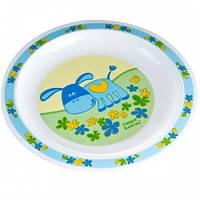 Тарелка пластиковая мелкая Smile с осликом, Canpol babies
