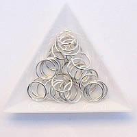 Соединительные колечки диаметр 12 мм толщина 1,2 мм св. серебро (примерно 0,5 кг)