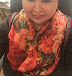 10183-6, павлопосадский платок шерстяной (разреженная шерсть) с швом зиг-заг, фото 9