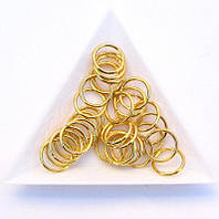 Соединительные колечки диаметр 12 мм толщина 1,2 мм золото (примерно 0,5 кг)