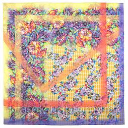 10295-2, павлопосадский платок хлопковый (батистовый) с швом зиг-заг
