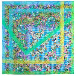 10295-11, павлопосадский платок хлопковый (батистовый) с швом зиг-заг