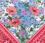 10542-3, павлопосадский платок хлопковый (батистовый) с швом зиг-заг, фото 4