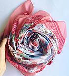 10542-3, павлопосадский платок хлопковый (батистовый) с швом зиг-заг, фото 6