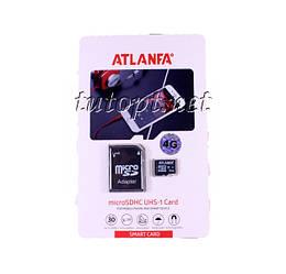 "Карта памяти Atlanfa 4GB ""ОРИГИНАЛ"" - Premium. Гарантия 1 год"