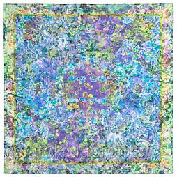 10729-13, павлопосадский платок (шаль) хлопковый (саржа) с подрубкой