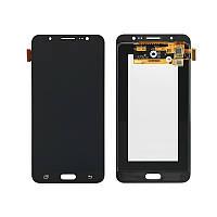 Дисплей модуль Samsung J710F/DS Galaxy J7 (2016) в зборі з тачскріном, чорний, Original