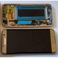 Исплейний модуль для телефону Samsung G935F Galaxy S7 EDGE з рамкою в зборі з тачскріном золотистий Original