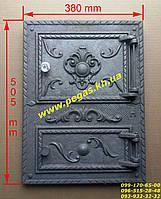 Дверка чугунная (Румыния №4) барбекю, грубу, печи, мангал, фото 1