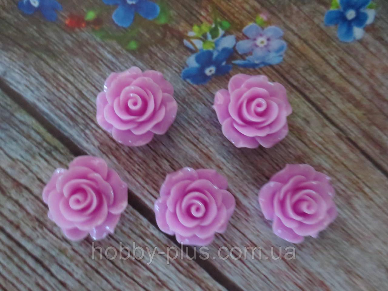 """Серединка акриловая """"Роза лаковая"""", 20 мм, цвет лиловый, 1 шт."""