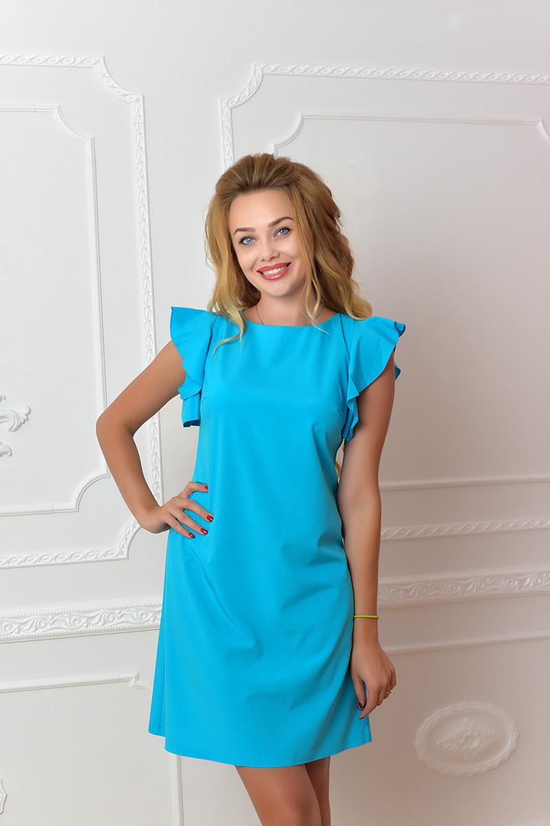 Платье арт. 783 бирюзовое