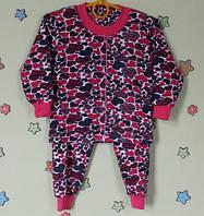 Детская пижама для девочки материал трикотаж хб на байке р.24,26,28,30,32,34,36