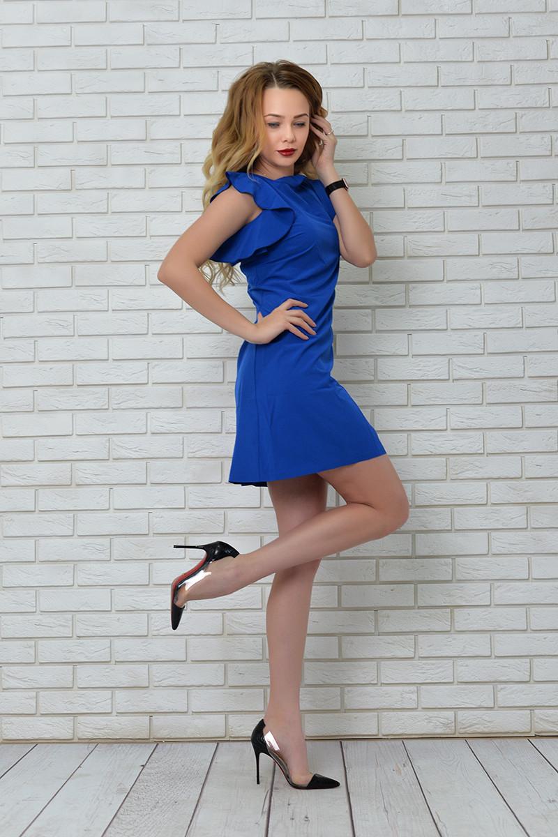 Платье арт. 783 ярко синее