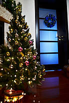 Венок новогодний большой  украшенный синий 0423 B, фото 3