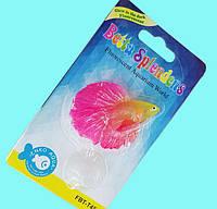 Декор для аквариума Боевая Рыбка жёлто-розовая