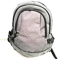 Рюкзаки спорт стиль текстиль (серый)30*45