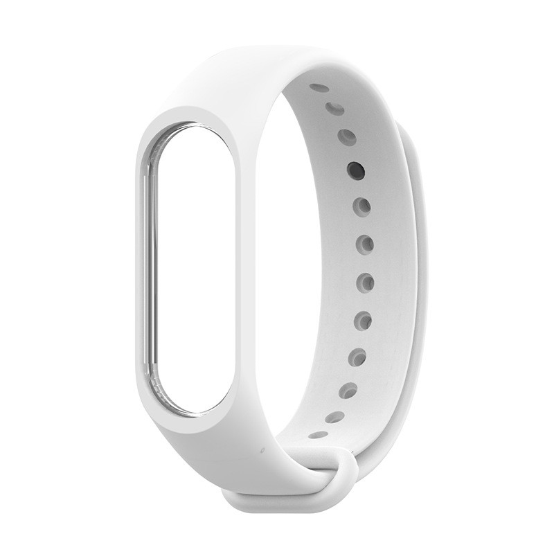 Ремешок Xiaomi Mi Band 4 / 3 MiJobs силиконовый Белый [1627]