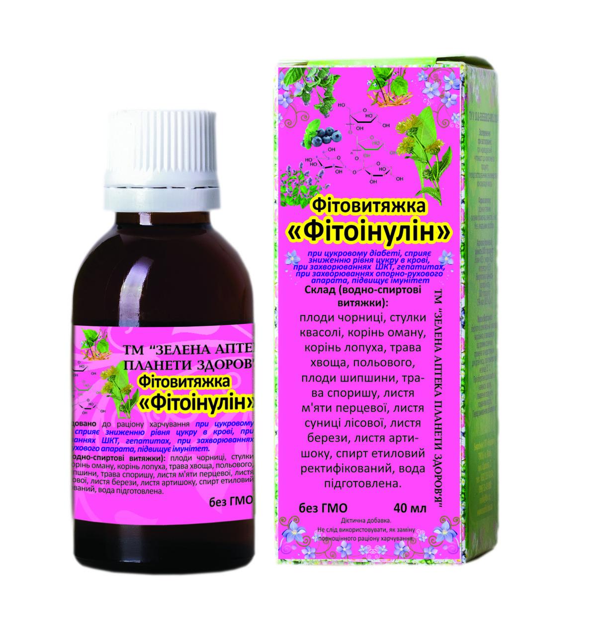 Фитоинулин фитовытяжка 40 мл