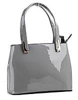 Элитная женская сумка цвет серый