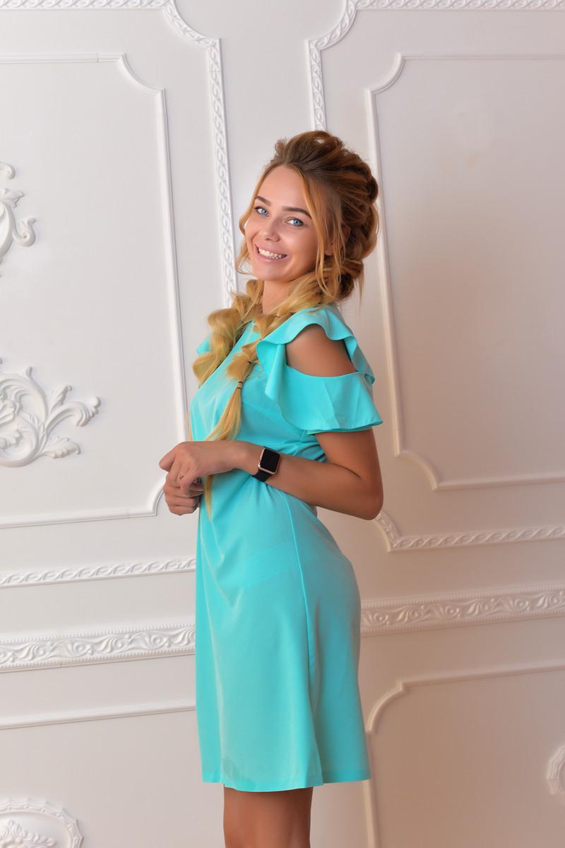 Платье арт. 783 голубое