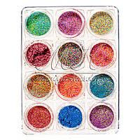 Набор меланжа в пластиковом контейнере, 12 цветов NPLB-00