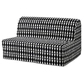 IKEA, LYCKSELE HAVET, Диван-кровать 2-местный, черный/белый (69149923)(S691.499.23) ЛИКСЕЛЕ ХАВЕТ ИКЕА