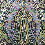 Тальянка 1750-9, павлопосадский платок хлопковый (батистовый) с подрубкой, фото 3