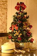 Елка  украшенная 45 см красная+золото  0305 RG