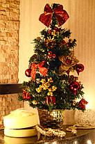 Елка  украшенная 45 см красная+золото  0305 RG , фото 3