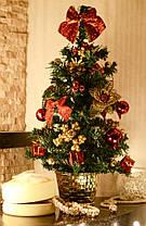Елка  украшенная 45 см красная+золото  0305 RG , фото 2