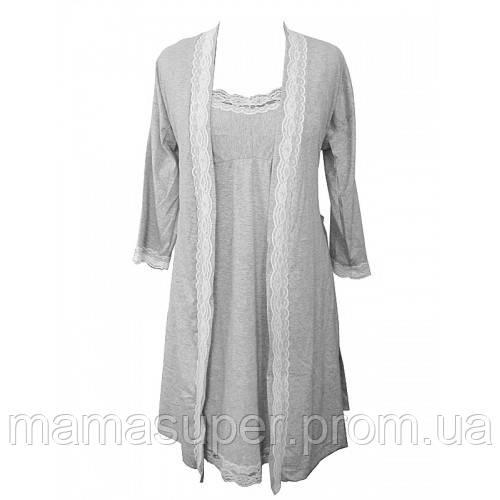 40a063772c2baad Ночная Рубашка и Халат для Беременных и Кормящих Мам Лира — в ...