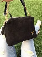 Замшевая сумка через плечо 1244 (ЮЛ)
