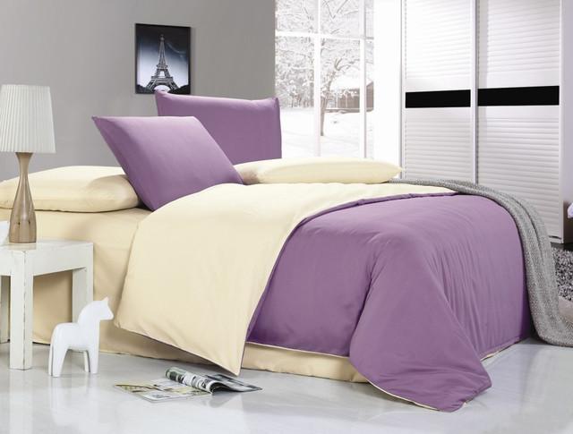 """Однотонные постельные комплекты в Евро размере """"Сатин"""""""