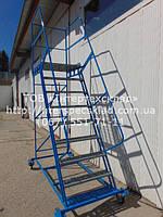 Лестница передвижная для СКЛАДА, Лестница складская 2.5м