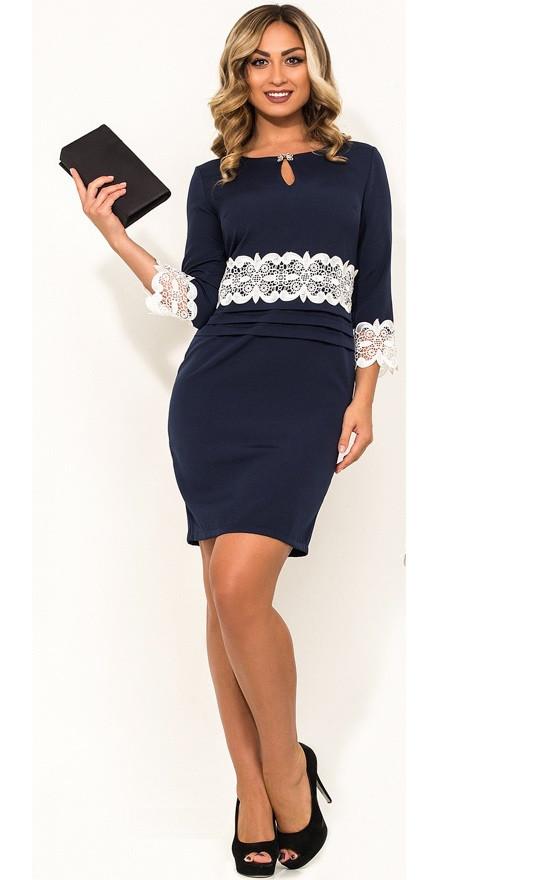 Красивое женское платье бежевое размеры от XL ПБ-297