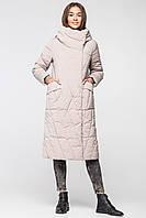Длинная теплая зимняя женская куртка BTF 1886 - песочно-бежевая