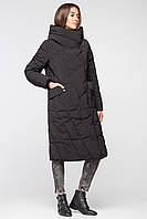 Длинная теплая зимняя женская куртка BTF 1886 - черная